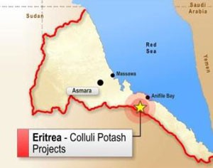 South Boulder Mines has secured access to Anfile Bay, in Eritrea, that would allow the company to store and ship products from its world class Colluli Potash deposit