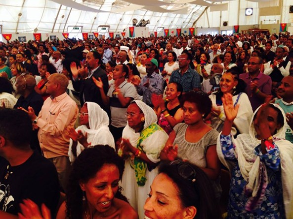 Proud and Happy Eritreans at the eventful opening day of the 40th anniversary of Festival Bologna