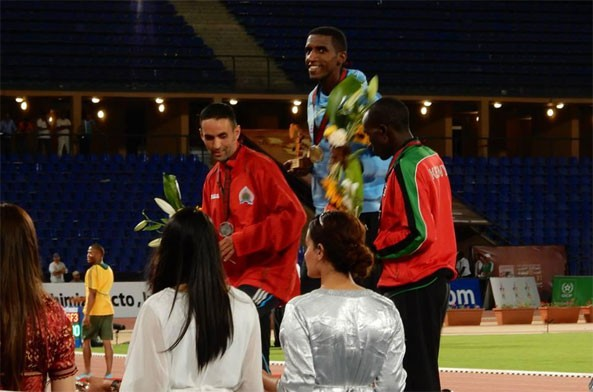 Eritrean National Team ranks first to wing gold in the 10,000m tournament of 19th African Athletics Championship and Athelte Nguse Amlosom becomes the first Eritrean ever to win a medal at the African Championship