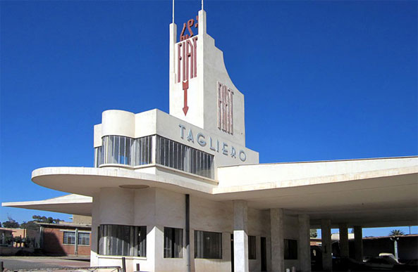Is it a bird, is it a plane, is it an airport? No, it's a gas station in Asmara designed in the art deco style in the 1930s when Eritrea was under Italian rule. Asmara is still home to a number of well-preserved art deco buildings. Turkish Airlines' new thrice-weekly service will make it easier for the world's architecture enthusiasts to come and see these rarely-visited architectural gems.