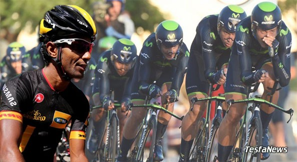 Movistar win LaVuelta stage 1 TTT while Team MTN-Qhubeka secures 12th place. The La Vuelta a Espana covers 3,181.5 Km in 3 weeks