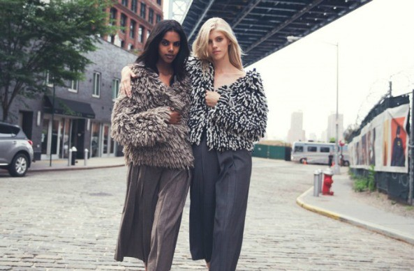 Eritrean - Canadian Super model Grace Mahary with model Devon Windsor