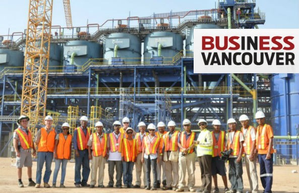 """The Operator of the Bisha Mine in Eritrea, Nevsun Resources Ltd.,is voted Fastest-Growing Company in 2013 by """"Business in Vancouver"""""""