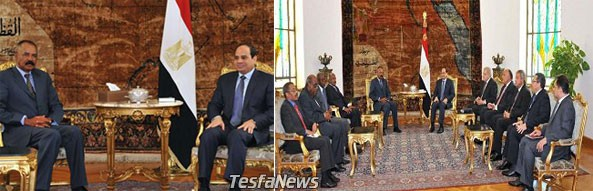 Eritrean delegation led by President Isaias Afwerki is in Cairo for a 2-day strategic visit