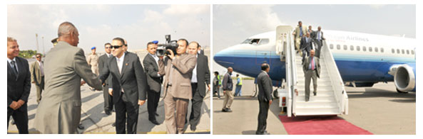 President Isaias returned home concluding a working visit to Egypt at the invitation of President Abdul-Fattah Al-Sisi.