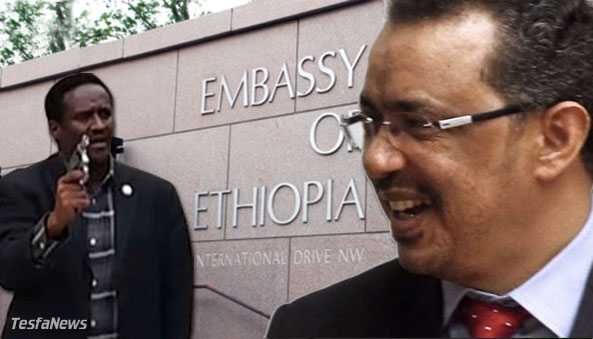 "Diplomats use the ""ammunition"" of words to resolve disputes, not a .38 caliber rounds. What TPLF Diplomat Gebre Sillasie ""Wedi Weyni"" did by shooting to kill the unarmed protesters on the embassy grounds will be remembered as an egregious criminal act in the history of the diplomatic corps in Washington, D.C. His case will provide instructional material for students of international law and diplomacy as a special case study of thugplomacy for decades to come."