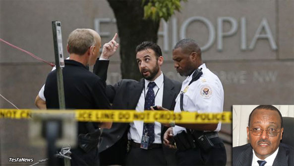 """NEVER SEEN BEFORE.The shockingly shameful act of lawlessness demonstrated by a certain TPLF cadre (they call him a """"diplomat"""") at the Ethiopian Embassy in Washington D.C. has never been seen in the real world before. The violent TPLF gunman """"diplomat"""" has been ordered to leave the U.S. after he was found shooting at peaceful protesters. What equally shameful was Ambassador Girma Birru's defense for the thug """"diplomat"""" saying """"he has done the right job"""" and putting the blame squarely on his nightmare, Eritrea."""