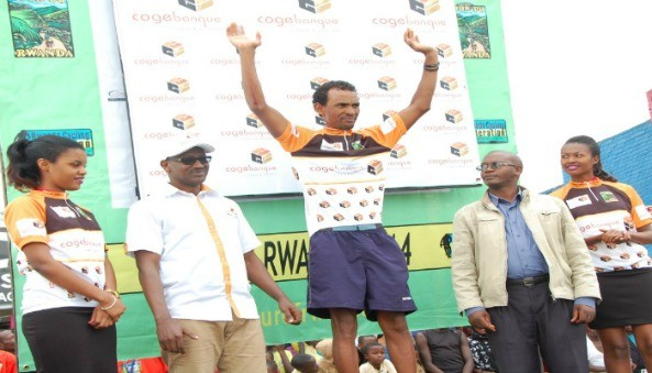Dawit Haile of team Eritrea today won the 3rd stage of Tour of Rwanda from Musanze to Muhanga - a distance of 127.5Km. Title contender Mekseb Debesay fell down on a slippery road as he approached the finish line.