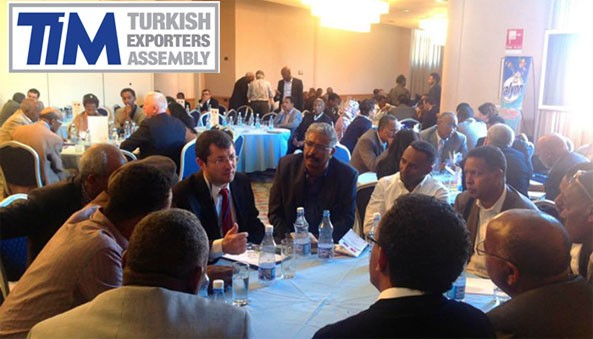 A business meeting by a delegation of the Turkish Exporters Assembly (TİM) during their stay in Asmara between 4-7 November 2014