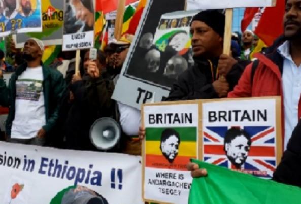 Tribute to heroic Ethiopian protestors in Brussels