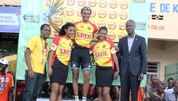 Eritrea's rising star Mekseb Debesay becomes the winner of first stage of Tour of Rwanda. Currently he rides for team Bike Aid