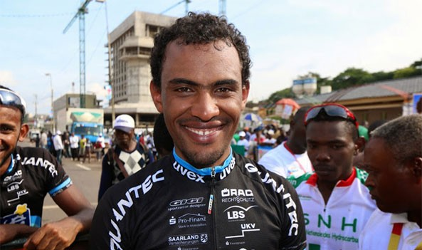Africa's top cyclist Mekseb Debesay congratulates Valens Ndayisenga and the people of Rwanda for winning the Tour of Rwanda for the first time since it became part of the UCI Africa Tour.