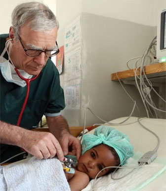 Dr. Andreas Urban saving the lives of Eritrean children with cardiac disease