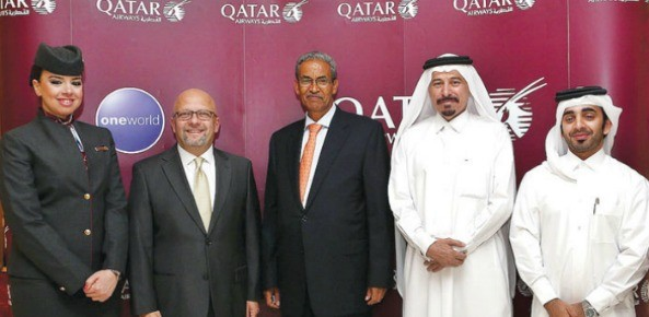 Qatar Airways Chief Commercial Officer, Marwan Koleilat (second from left) and Eritrea's Minister of Transportation & Communication Tesfaselasie Berhane