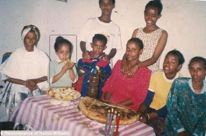Hana with her family in Ethiopia