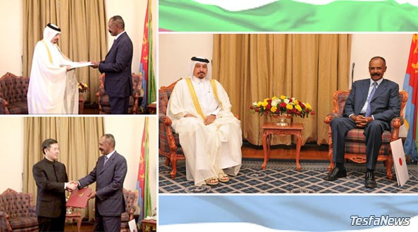 New Chinese and Qatari Ambassadors to Eritrea