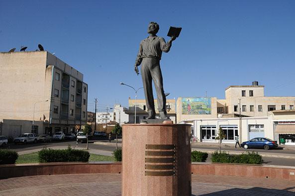 Pushkin in Asmara - he was partially Eritrean (Photo by Andre Vltchek)