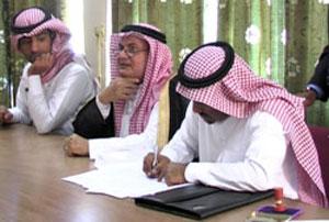 Acting Charge' D'Affaires in Asmara Shadeed bin Hamid Al-Sahali