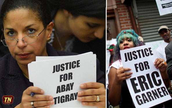 Justice for Eric Garner and Eritrea – Victims of Illegal Chokehold in New York