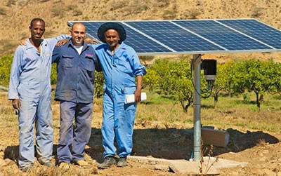 Farming Community in Eritrea Benefiting from Solar Pumping System