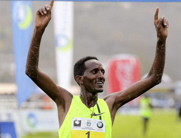 Eritrea's Teklemariam Medhin Achieves Rare Hat-Trick in San Sebastian Cross Country Race