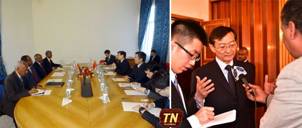 Chinese Vice Foreign Minister Zhang Ming exchanging in-depth views with Eritrean authorities during his recent visit