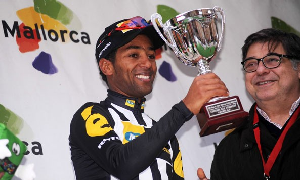 Fellow countryman and MTN-Qhueka's most favorite rider Merhawi Kudus got the most combative rider prize at the Mallorca Challenge #3
