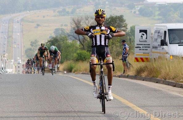 MTN-Qhubeka feeder rider Eritrean Metkel Eyob earning his first Berge en Dale win