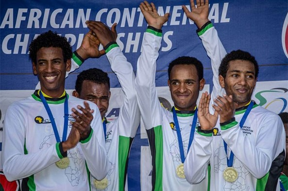 Team Eritrea Dominates Opening Day of the African Continental Championship