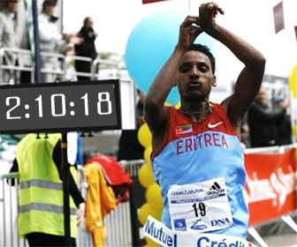 Estifanos became the first Eritrean to win the Beppu-Oita Marathon in its 64 years history with another personal best