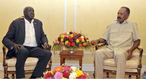 Meeting between President Afwerki of Eritrea and S. Sudan Chief negotiator