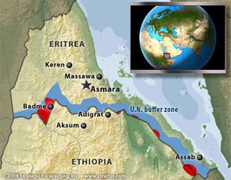 Ethiopia's occupation of sovereign Eritrean territories