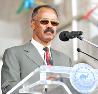 President Isaias Afwerki delivering speech