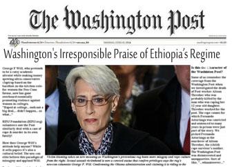 Washington Post Denounces Wendy Sherman's Irresponsible Praise of Ethiopia's Regime
