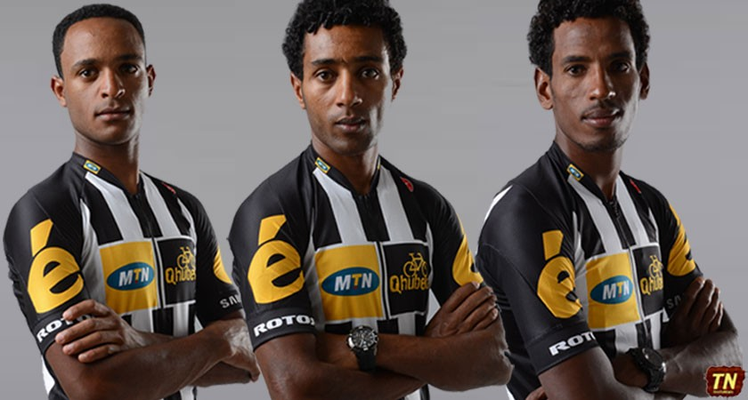 Eritrean riders at the 2015 La Vuelta a Espana