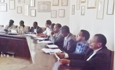 Progress report meeting at Asmara University Campus