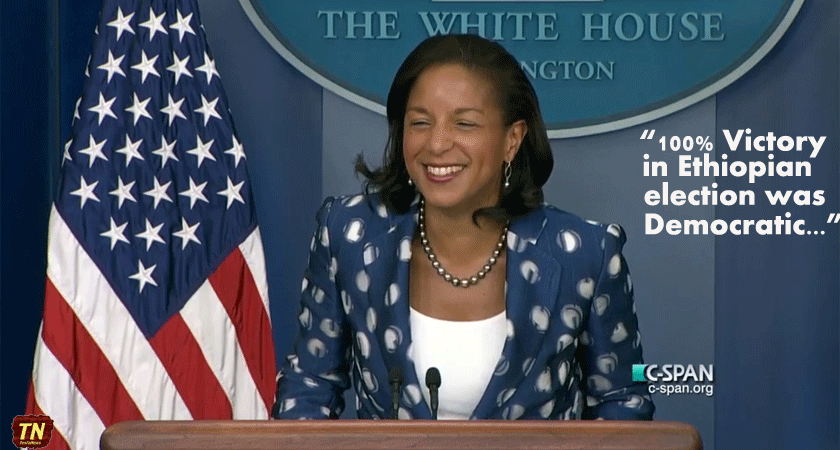 Susan Rice Laughed at EPRDF's 100% Win