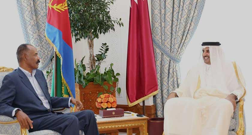 President Isaias Afwerki and Emir of Qatar