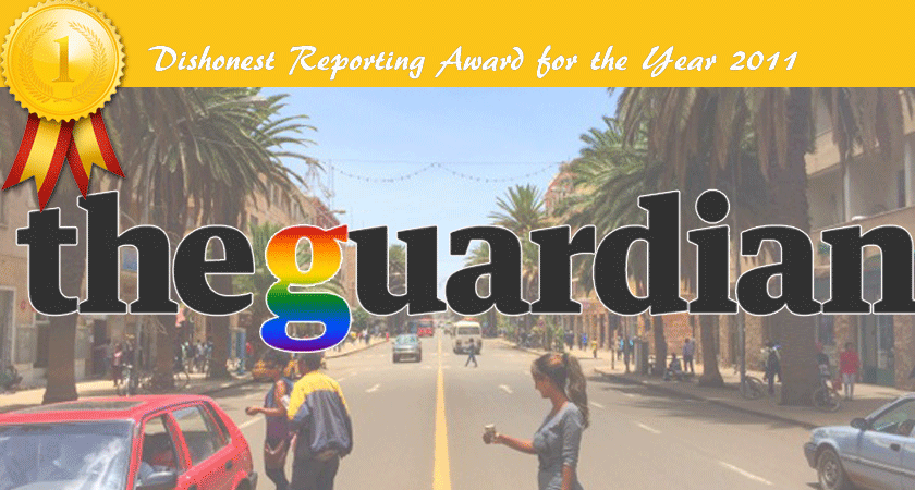 The guardian dishonest reporting award 2011