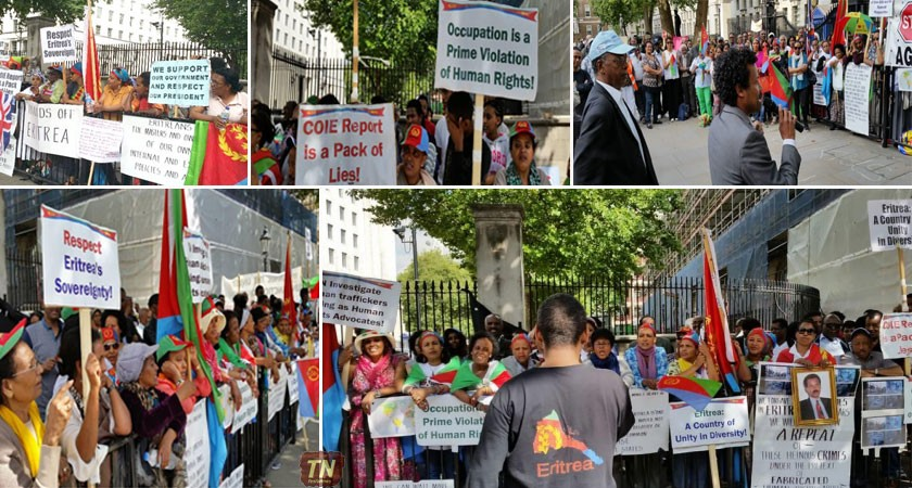 Eritreans Sit-in Protest on Downing Street Enters 45 Day