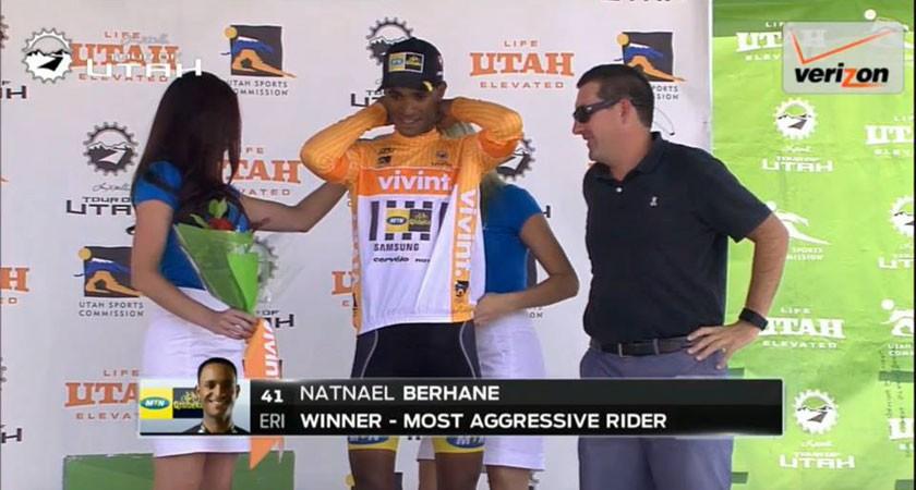 "Natnael Berhane named the ""most Aggressive Rider"" of the 2015 Tour of Utah"