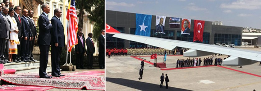 """Obama's """"rug carpet reception"""" vs. Erdogna's red carpet in Somalia"""