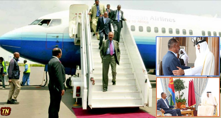 President Isaias returns home from Qatar