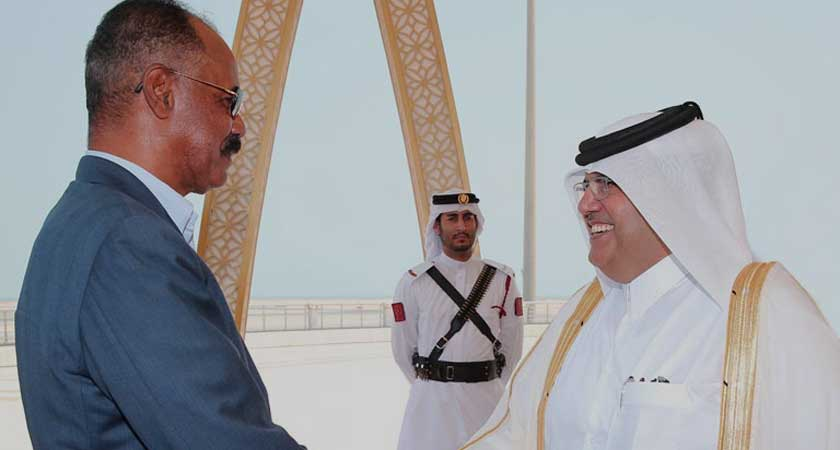 President Isaias Arrives in Doha For a Working Visit