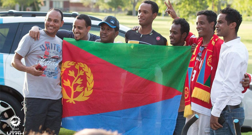 Eritrean fans at tour of utha