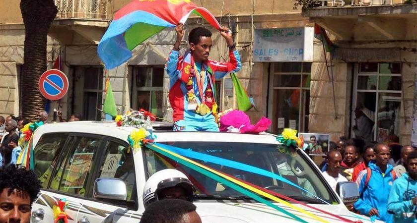 Asmara Welcomes Athletes Home from Beijing