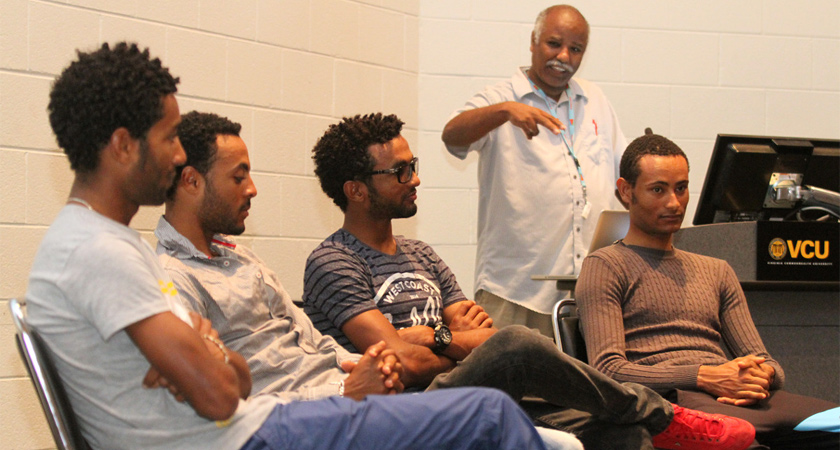 Eritrean Student Group Welcomes Country's Cycling Team to Campus