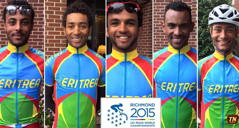 Five Eritrean Riders at World Championships in Richmond