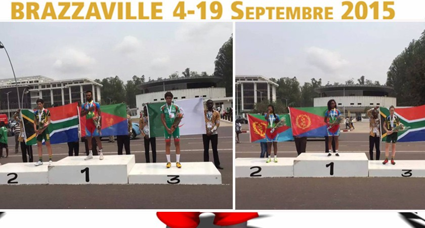 Brazzaville 2015: Team Eritrea stormed ITT with 2 Golds and 1 silver today.