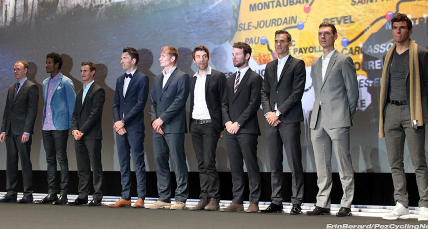 Daniel Teklehaimanot at the 2016 Tour de France Route Presentation